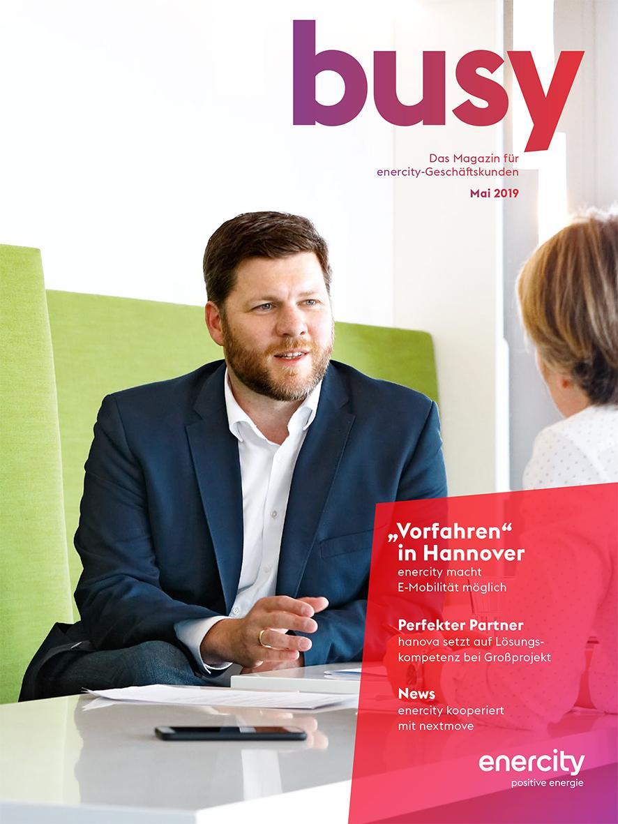 """busy"": Geschäftskunden-Newsletter der enercity AG"