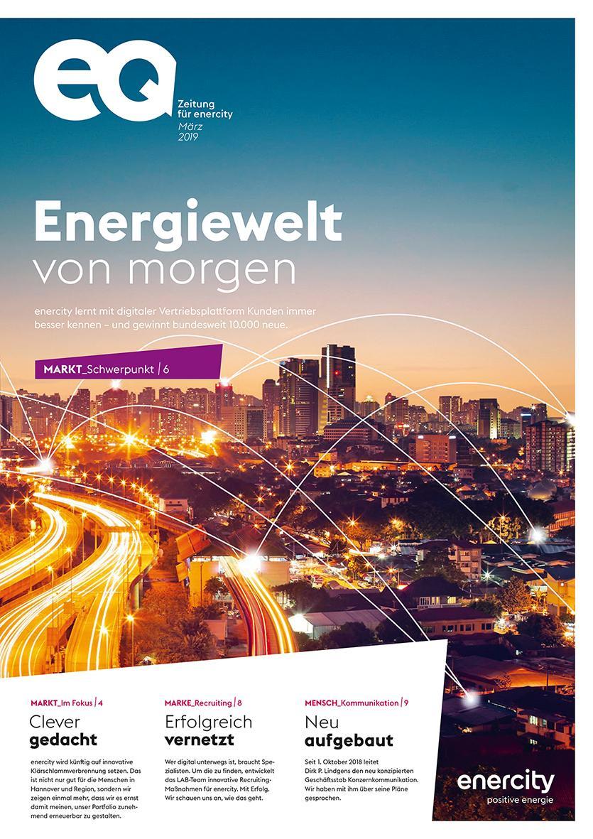 """""""eq"""": Die Mitarbeiterzeitung der enercity AG."""